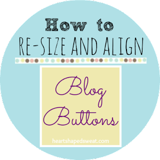 how to resize and align blog button, blog design help