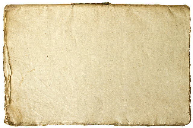 An old sheet of yellowing paper
