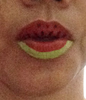 lip painting water melon