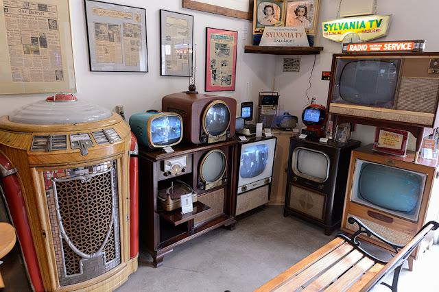Vintage TVs at The Old Sled Works