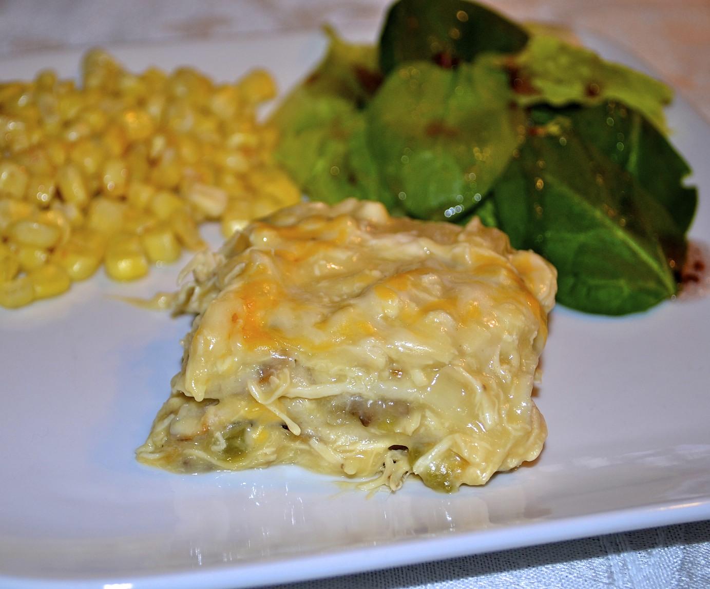 Boy Cheese Sandwich: Chicken Enchilada Casserole