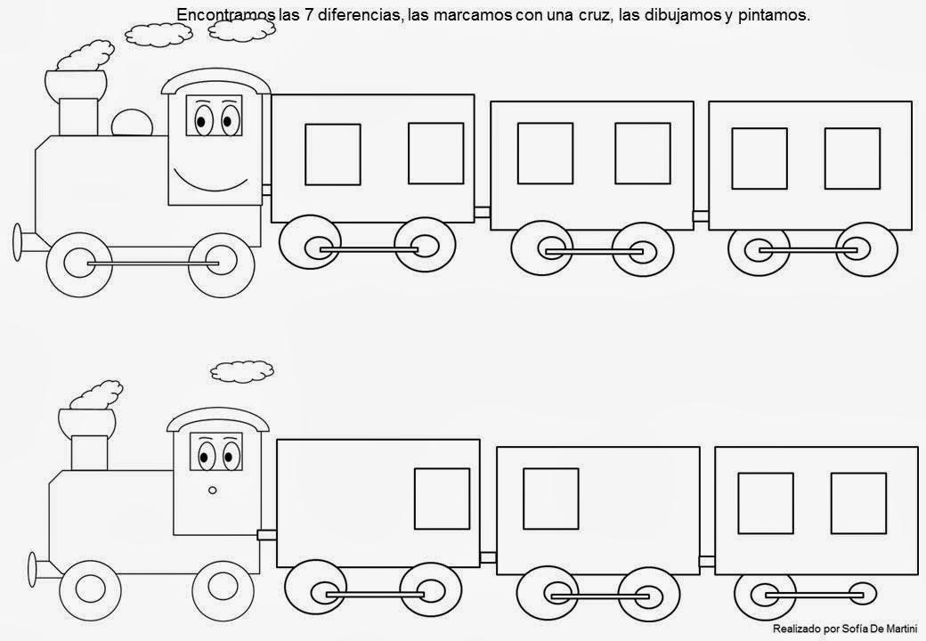 Fantasía en Tranvía: Juego de encontrar las diferencias: el tren