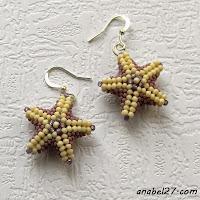 """Маленькие серьги из бисера """"Морские звезды""""  - 178 / 365"""