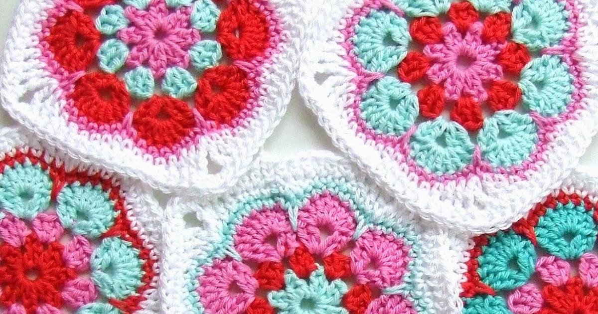 daisy granny square patroon