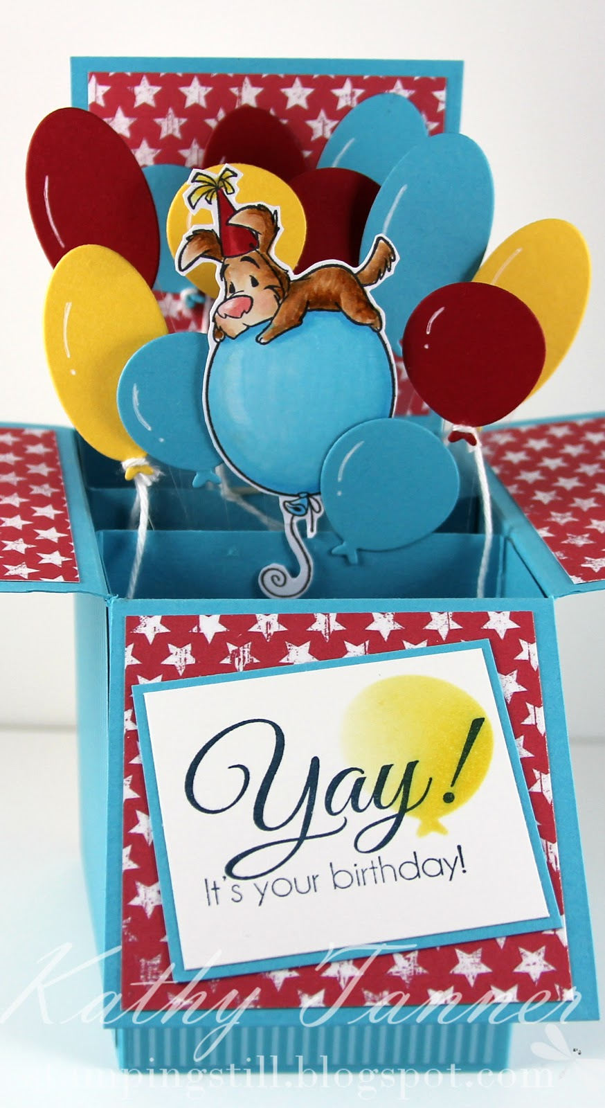 card in a box, April 2014 CC designs release, pepper on balloon