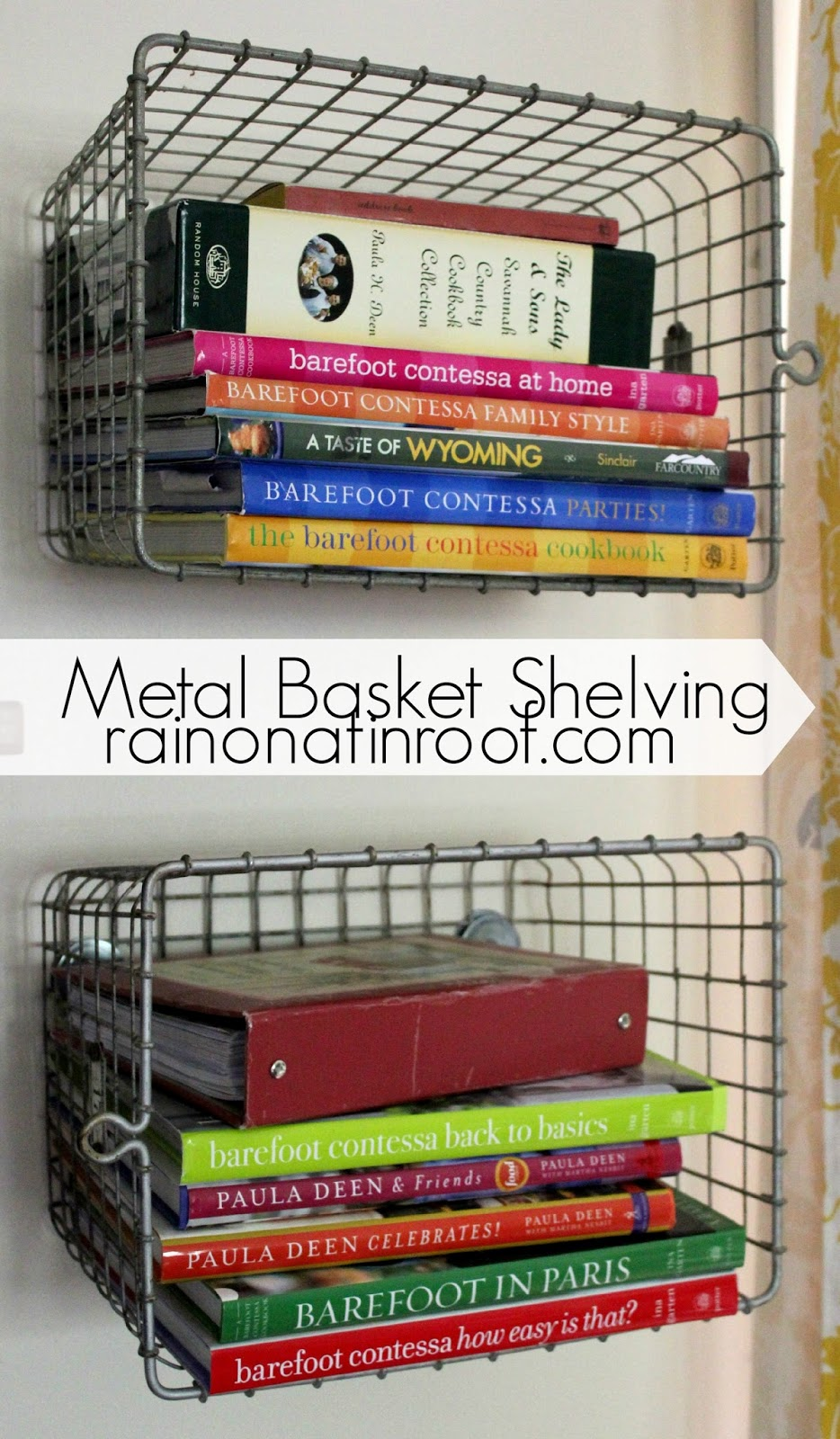 Diy Metal Basket Shelving With Old Locker Baskets