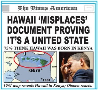 HAWAII 'MISPLACES' DOCUMENT PROVING IT'S A UNITED STATE