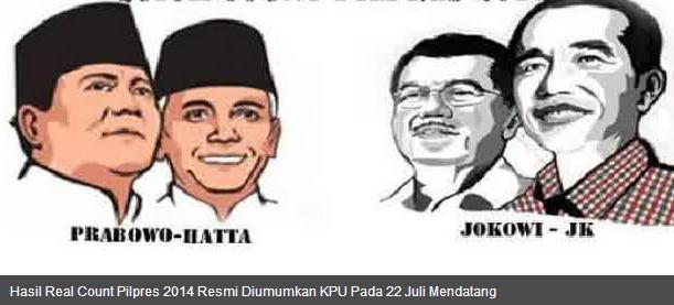Pengumuman Rekapitulasi Manual KPU Pilpres 22 Juli 2014