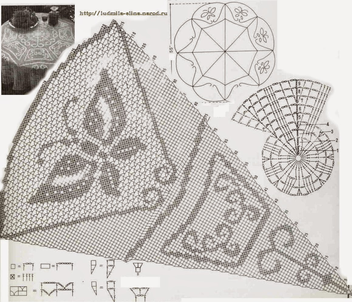 Hobby lavori femminili ricamo uncinetto maglia - Centro tavolo all uncinetto ...