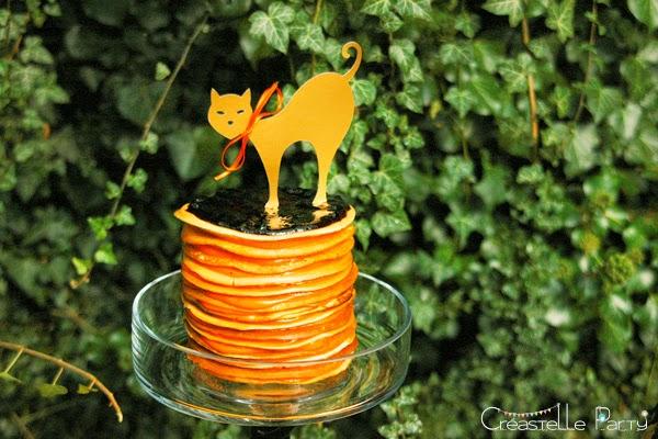 Gâteau panckes citron / myrtilles pour Halloween