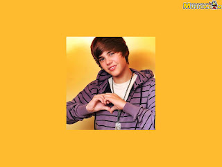 Yellow wallpapers of Justin Bieber