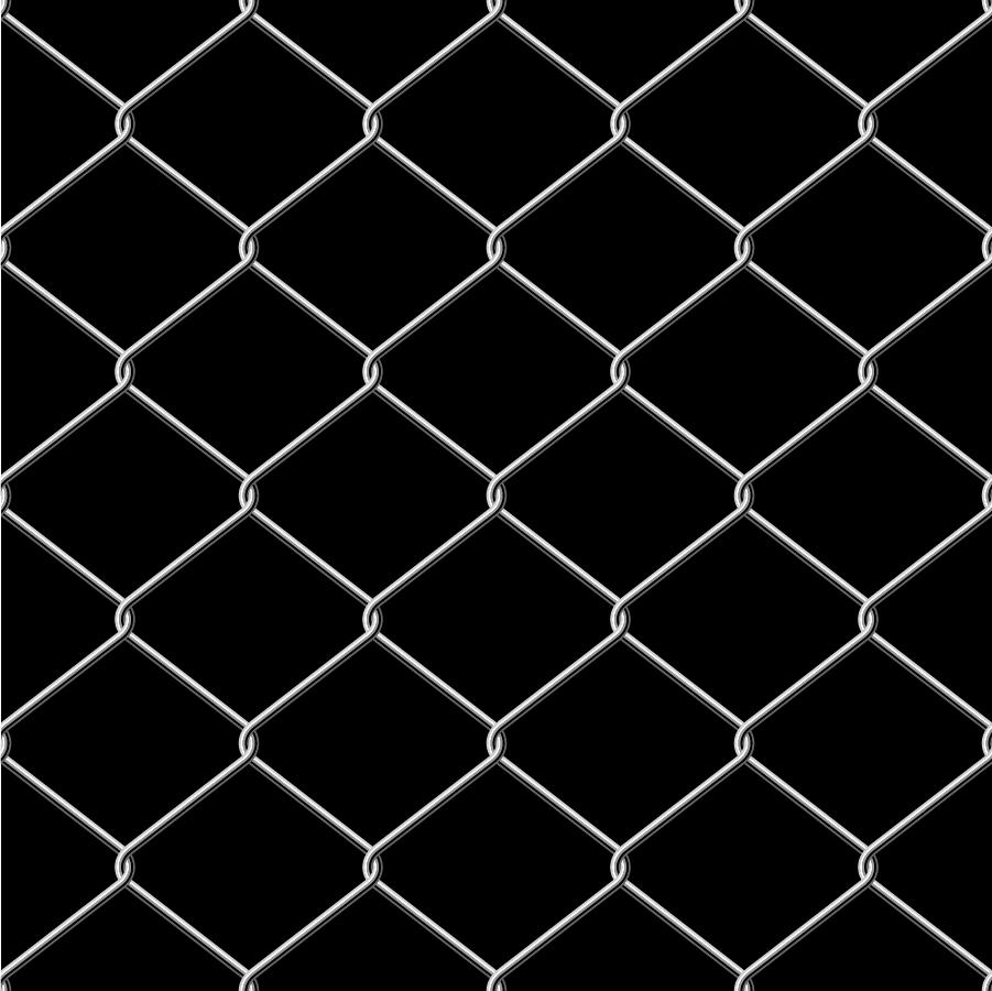 金網のフェンス Metal Wire Fence イラスト素材