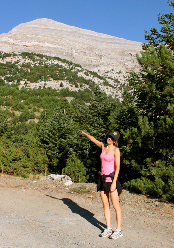 Hiking the tallest mountain in Sparta, Greece