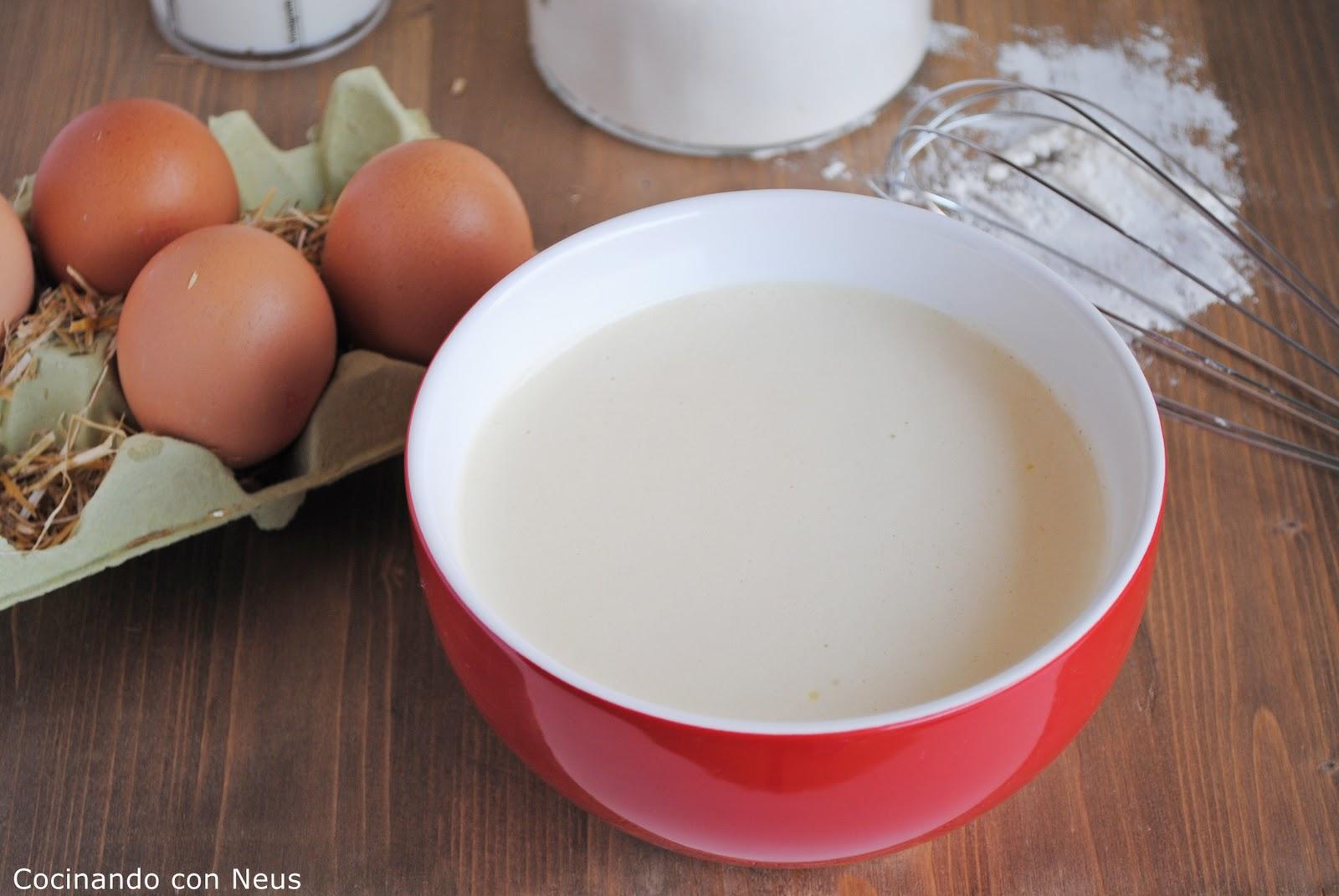 Neus cocinando con thermomix masa para cr pes con thermomix - Como hacer masa de crepes ...