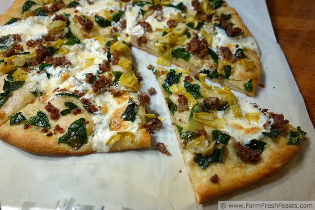 Sausage Spinach Mozzarella Ball Pizza | Farm Fresh Feasts