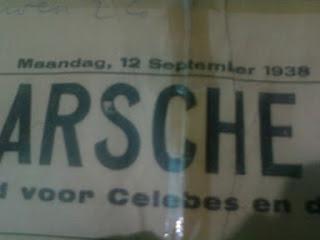 Koran tua di Makassar yang menggunakan bahasa Belanda 12 September 1938
