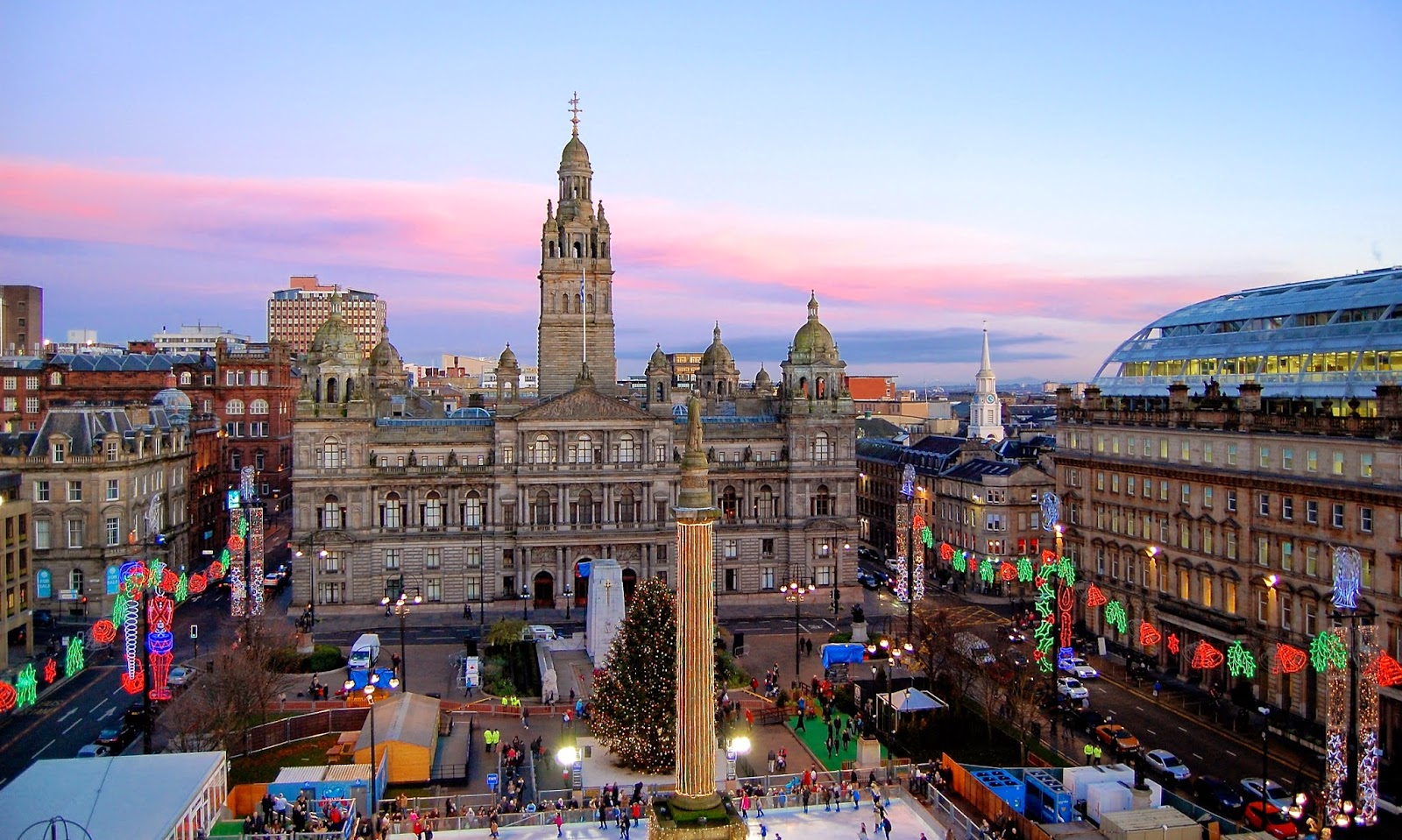 Christmas fair at George Square in Glasgow