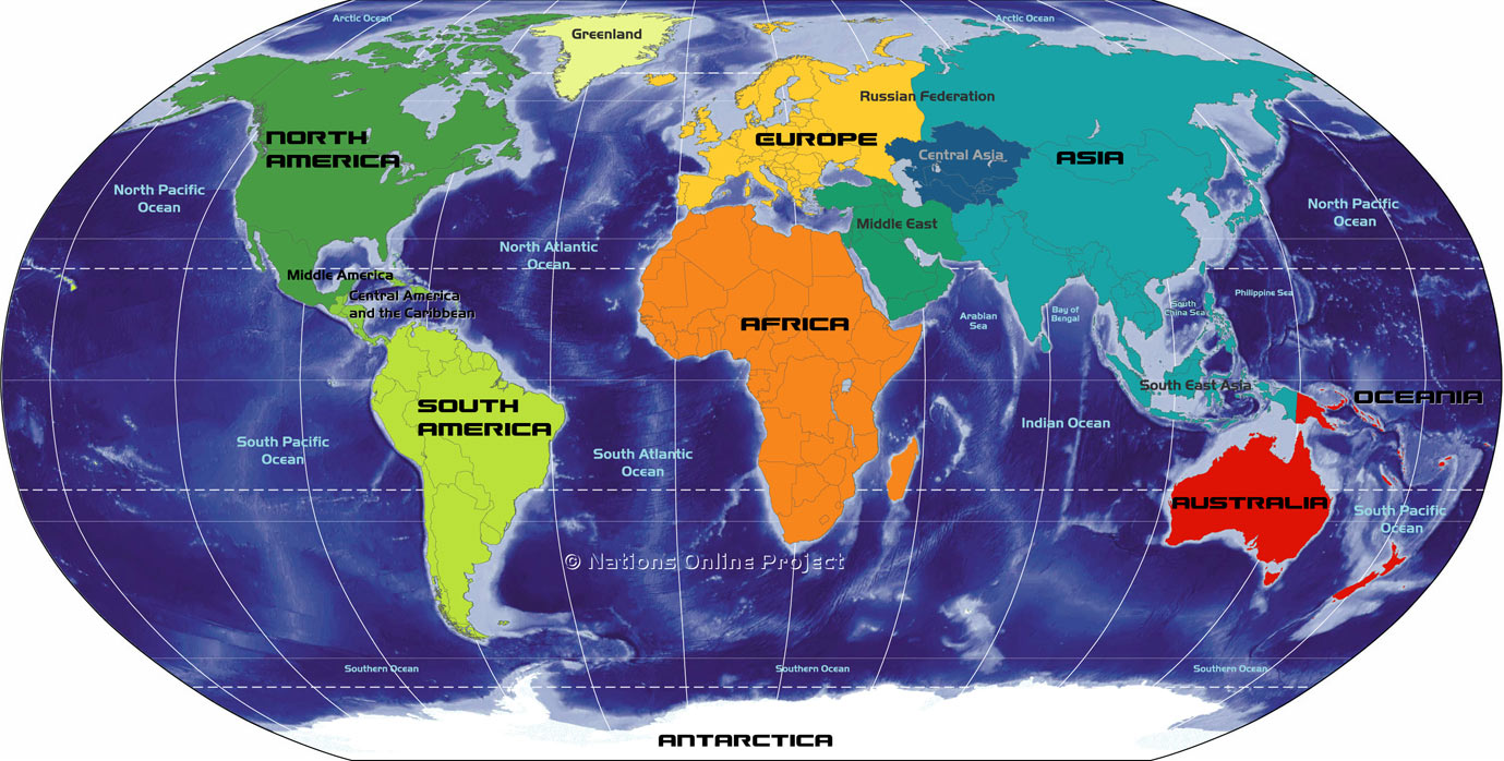 World Map Continents Topix