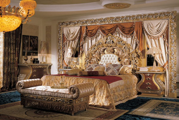 Interior design luxury italian bedroom furniture ideas - Contemporary canopy bed for a royal room ...