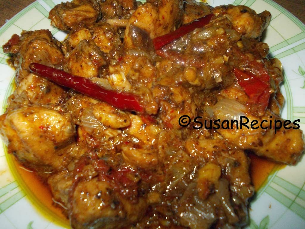 Susan recipes chicken jhal fry delicious chicken jhal fry is now ready to serve ccuart Image collections
