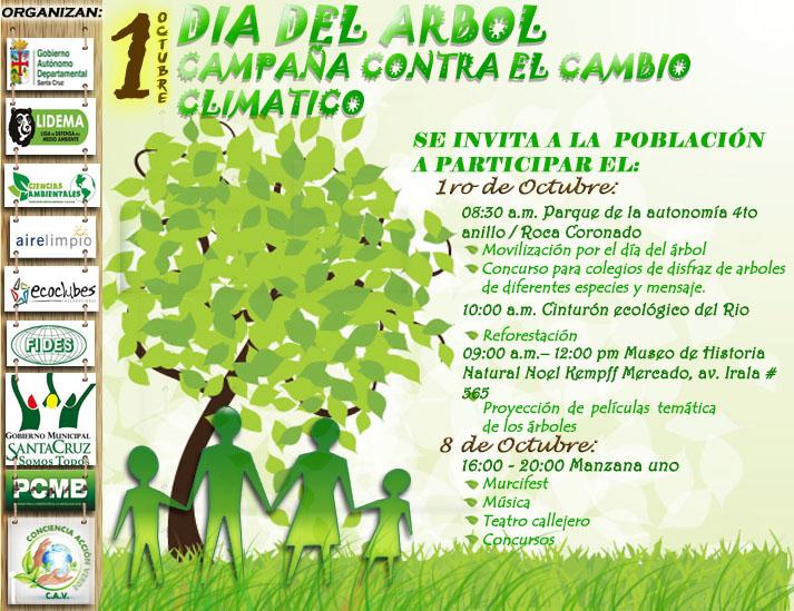 Campa a global contra el cambio clim tico y d a nacional for Dia del arbol 01 de septiembre