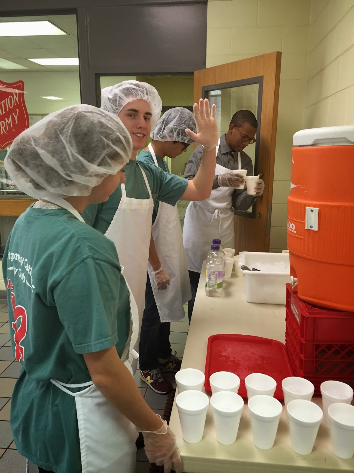 Catholic Key Club Spent Time at the Salvation Army February 15 2