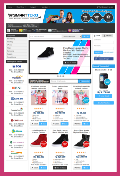 Theme toko online wordpress
