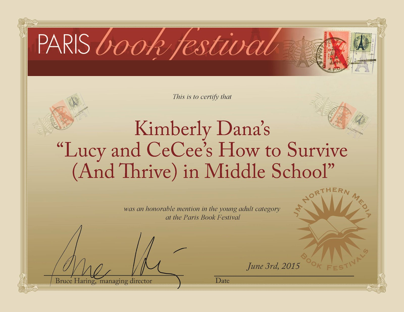 Paris Festival of Books Young Adult Award