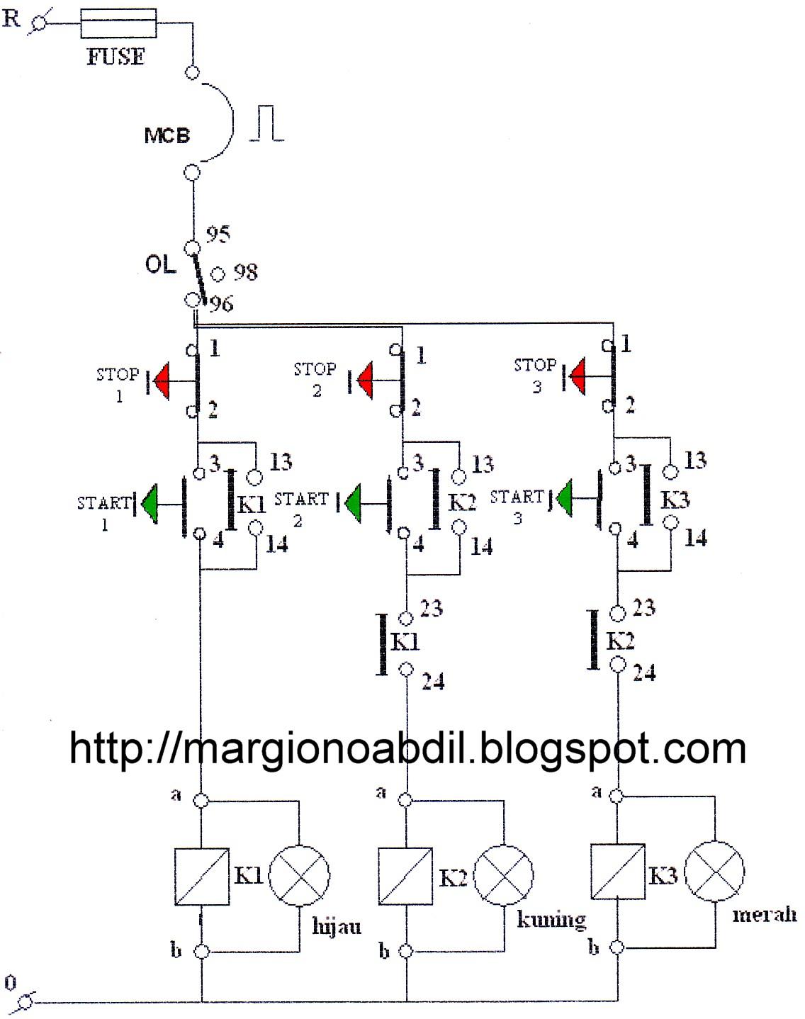 Bagirgiono abdil ber pengendalian 3 buah motor induksi 3 fasa dengan kontaktor magnet yang dapat bekerja dan berhenti secara berurutan manual lihat gambar 2 3 dan 4 di bawah ccuart Gallery