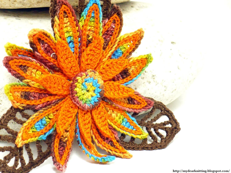 поделки рамка и вязаные цветы схема