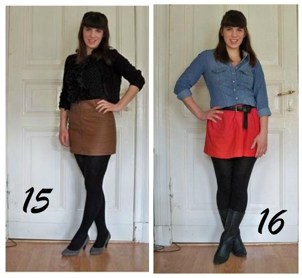 30 Kleidungsstücke für 30 Tage ergeben 30 verschiedene Outfits Woche 3