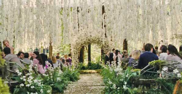 It was beautiful breathtaking and a fairytale outdoor wedding dream