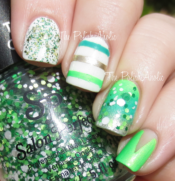 : Salon Perfect St. Patricks Day Collection Nail Art and Giveaway