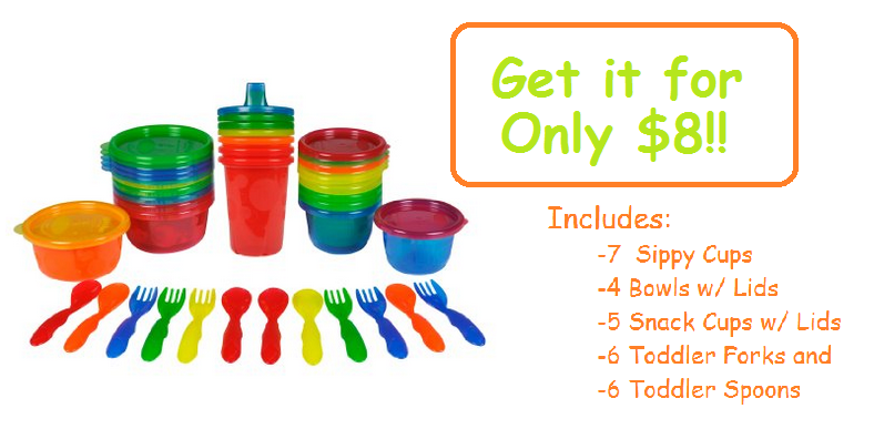 Get the The First Years Take and Toss 28-Piece Feeding Set for only $7.95!! (BPA and PVC Free) - Personally Recommended!!  LOWEST PRICE!!