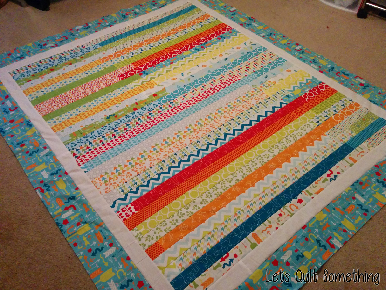 Lets Quilt Something: Mixed Bag Studio - Jelly Roll Race Quilt Pattern