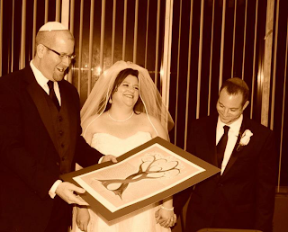 Rabbi Jason Miller at a Jewish wedding ceremony