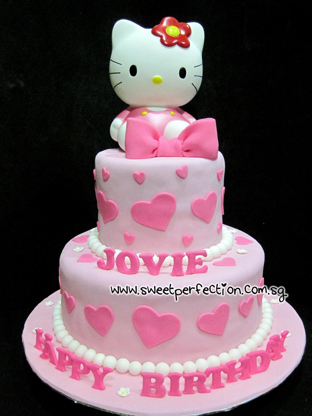 ... Cakes Gallery: Code HK33 - Hello Kitty & Jovie Birthday Cake