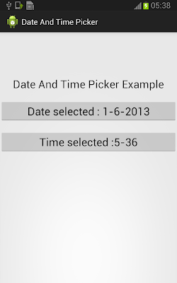TimePickerDialog In Android