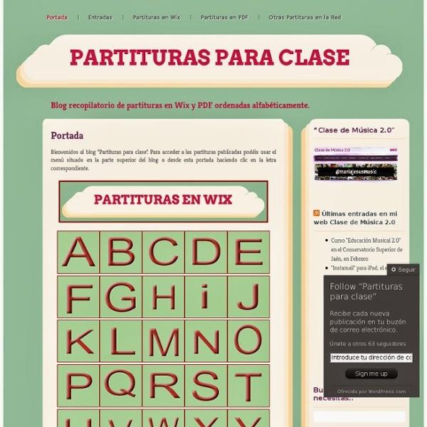 PARTITURAS PARA CLASE