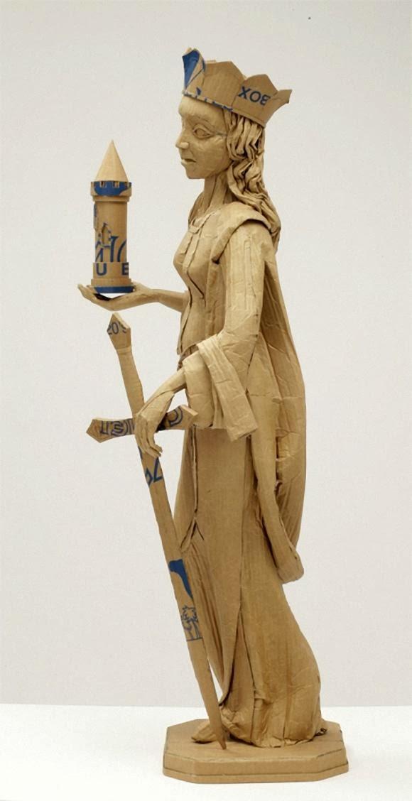 Contoh Karya Seni Kriya dari Kardus
