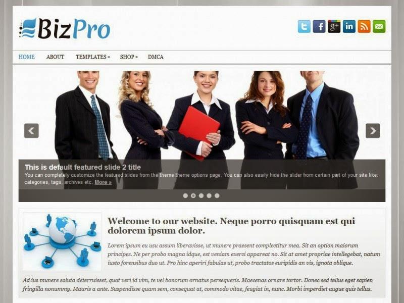 BizPro - Free Wordpress Theme