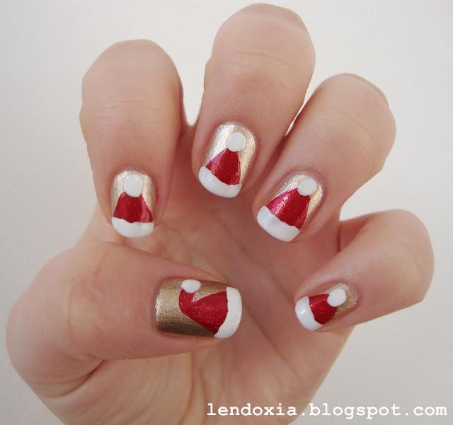 božićne kapice manikura