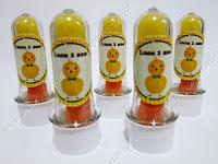 Lembrancinhas Personalizadas Pintinhos Amarelinhos - Tubinhos