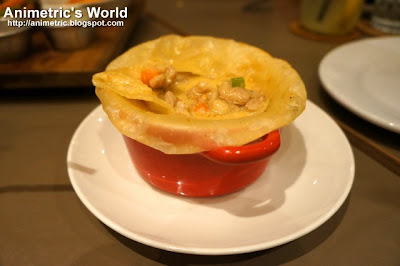 Chicken Chipotle Chorizo Pot Pie at Cue Modern Barbecue