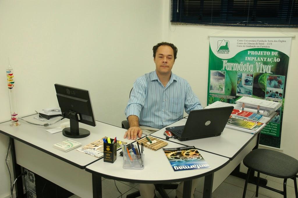 O projeto INOVA-SERRA-RJ é coordenado pelo professor Valter Luiz Gonçalves, coordenador do curso de Farmácia do UNIFESO