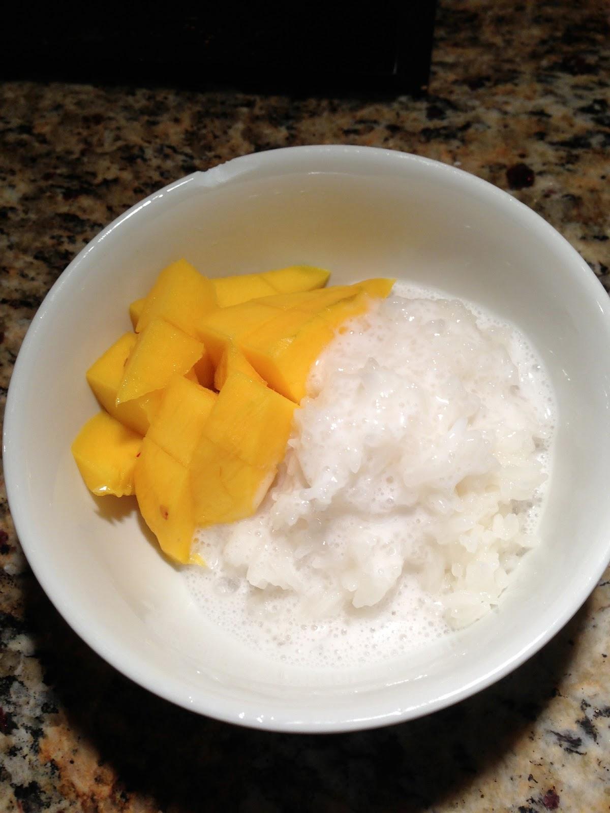 Coconut Sticky Rice and Mango