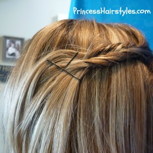 fishbone braided bangs hairstyle