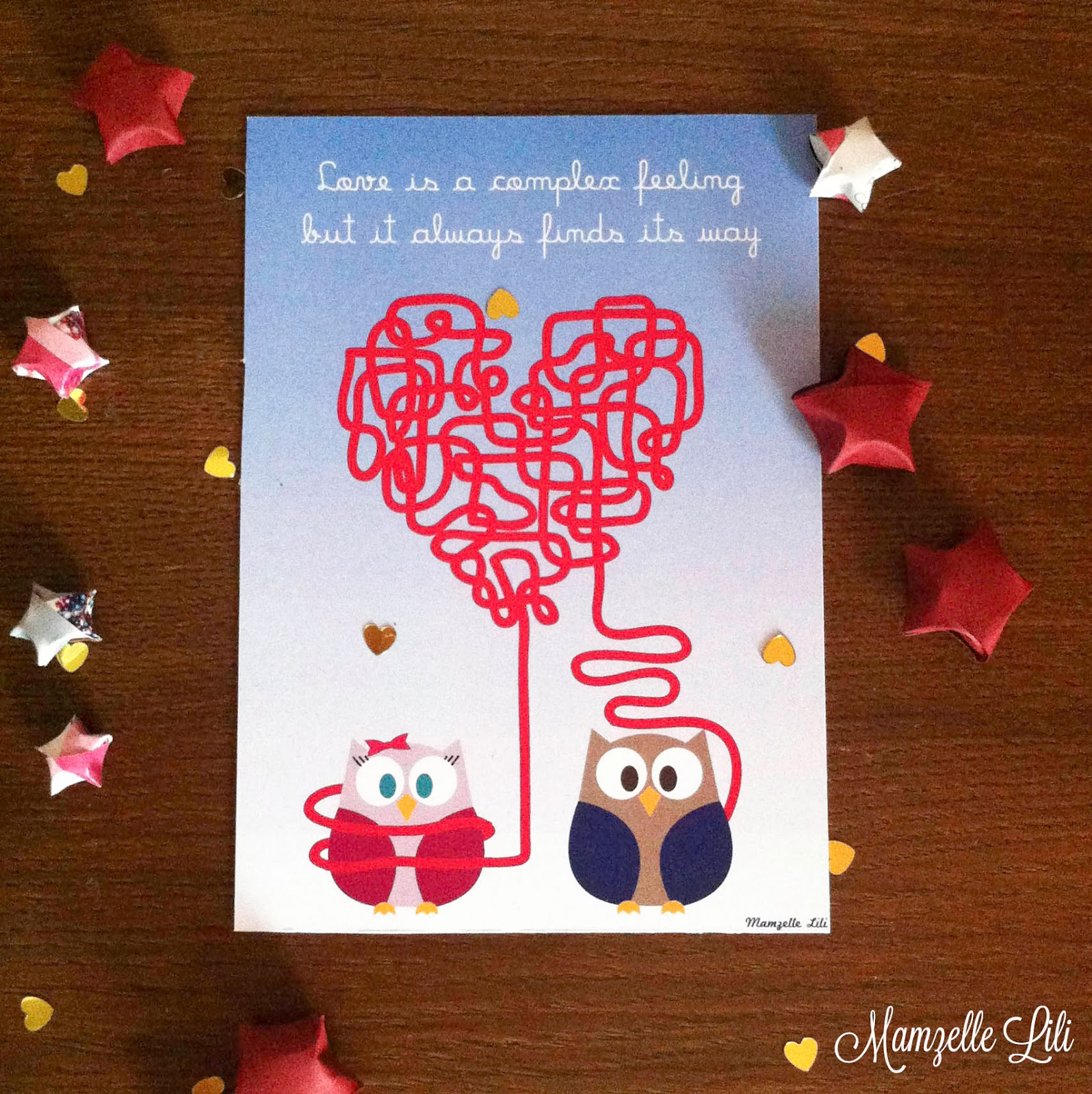 "love cards cartes à imprimer pour dire je t'aime ""love is a complex feeling"""