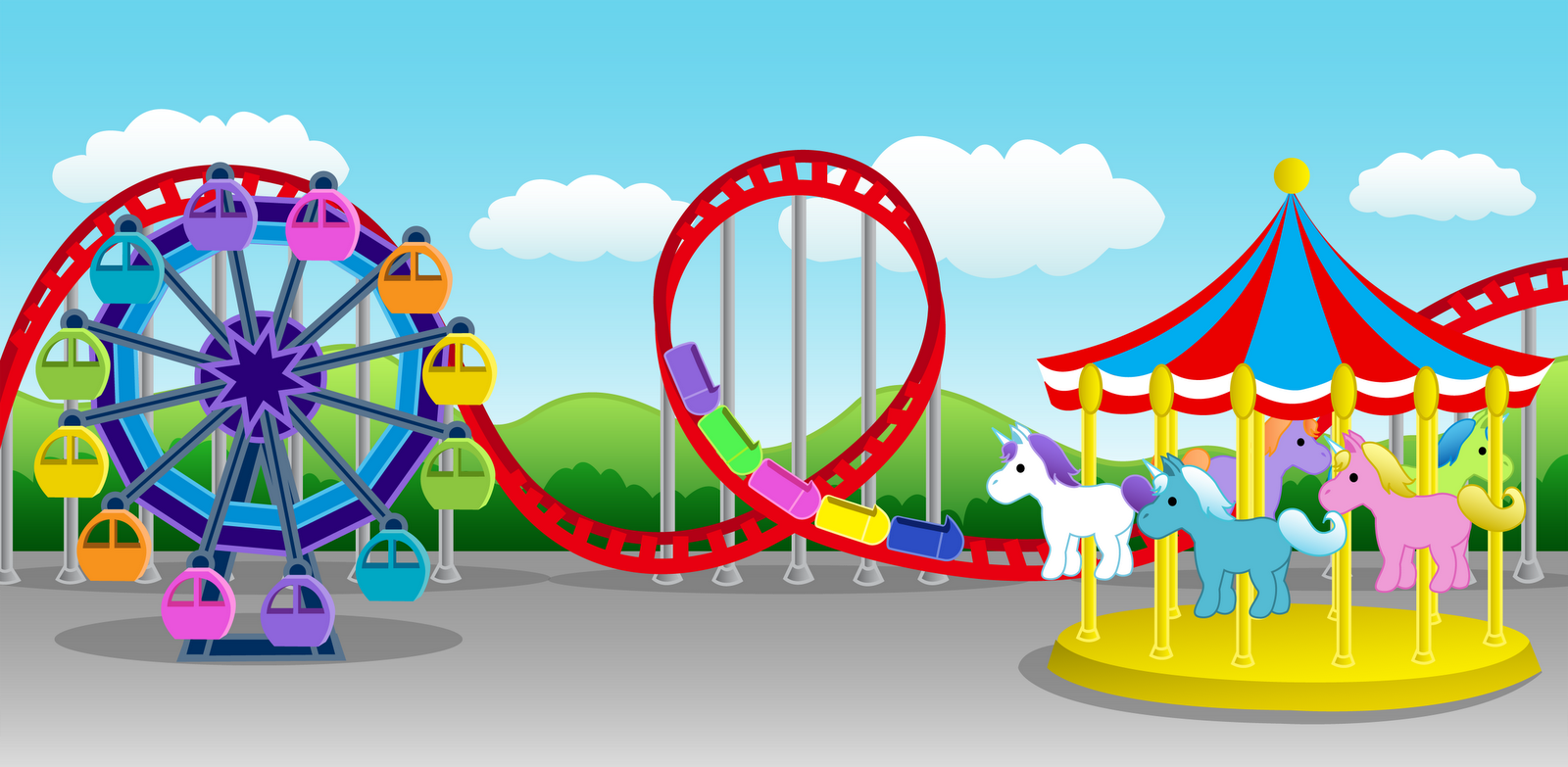 GALLERY FUNNY GAME: Amusement park clipart