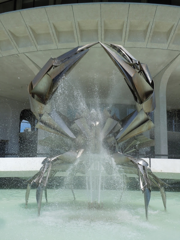 Vancouver Museum giant crab fountain